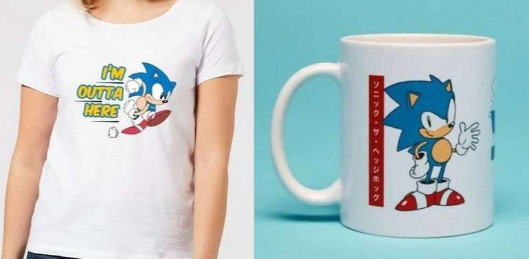Sonic Bundle bestehend aus T-Shirt (Damen und Herren) und Tasse für 11,48€ (statt 16€)