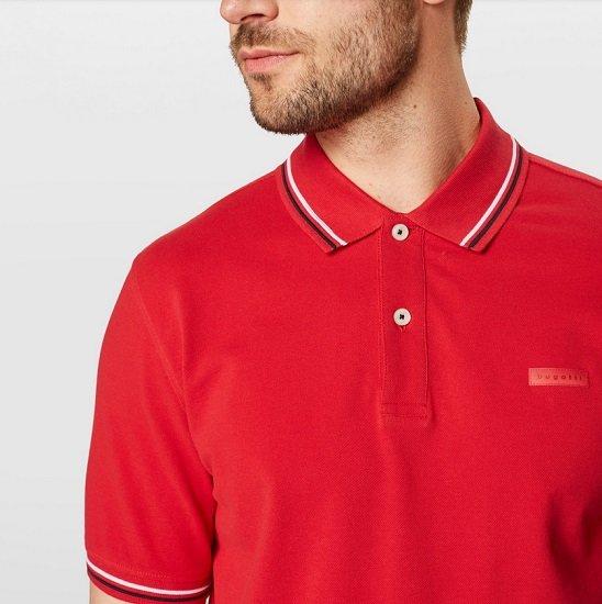 T-Shirt Sale bei About You mit bis -40% + 30% - z.B. Bugatti Polo-Shirt für 24,43€