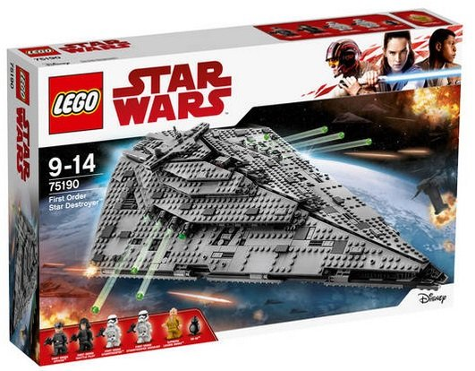 Lego Star Wars - First Order Star Destroyer (75190) für 119,99€ (statt 133€)