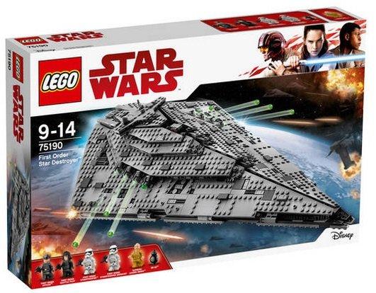 Lego Star Wars - First Order Star Destroyer (75190) für 119,99€ (statt 133€)