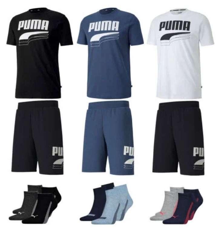 Puma Outfit Rebel (Shirt, Short, 4 Paar Socken (Sneaker oder Quarter)) für 39,95€ inkl. Versand (statt 55€)