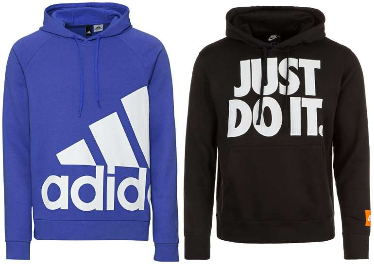 Nike Just Do It Fleece Kapuzenpullover + adidas Performance Hoodie für 54,98€ inkl. Versand (statt 84€) - Newsletter