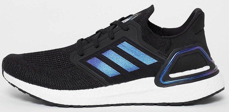 Adidas Ultraboost 20 Space Race Sneaker in Core Black/Boost Blue Violet/Footwear für 80€