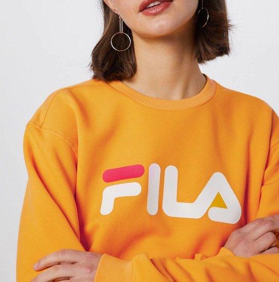 FILA Damen Sweatshirt 'Pure' in Gelb für 23,81€ (statt 39€)
