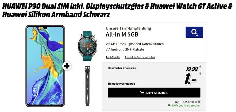 Huawei P30 + Watch GT Active o2 Allnet-Flat 5GB LTE 2