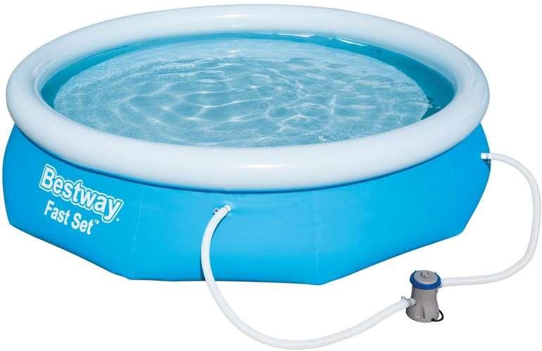 Bestway Fast Set Pool (305 cm x 76 cm) Inkl. Filteranlage und Schlauchverbindungen für 54€ (statt 63€)