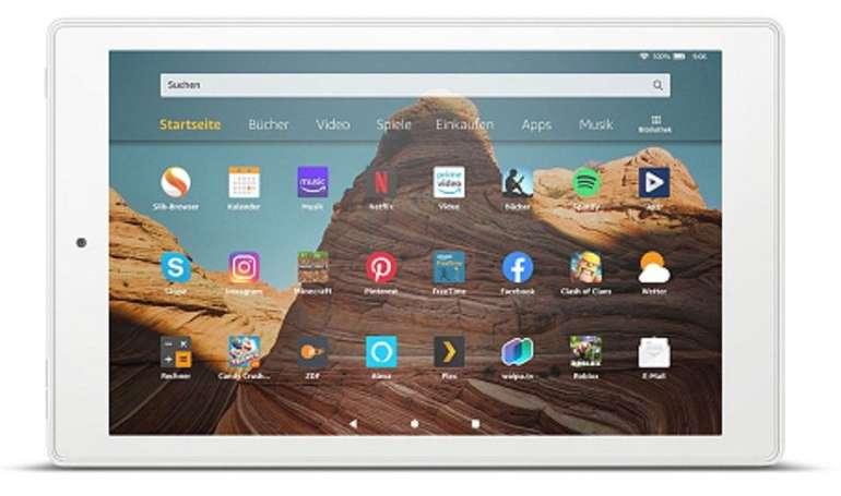 Das neue Amazon Fire HD 10 - 25,7cm Tablet PC (Octa Core, 32GB) + 32GB Karte ab 120,93€ (statt 150€)