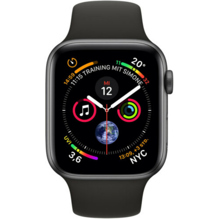 Apple Watch Series 4 (GPS + Cellular, 44mm) in Space Grau für 399,90€ (B-Ware)