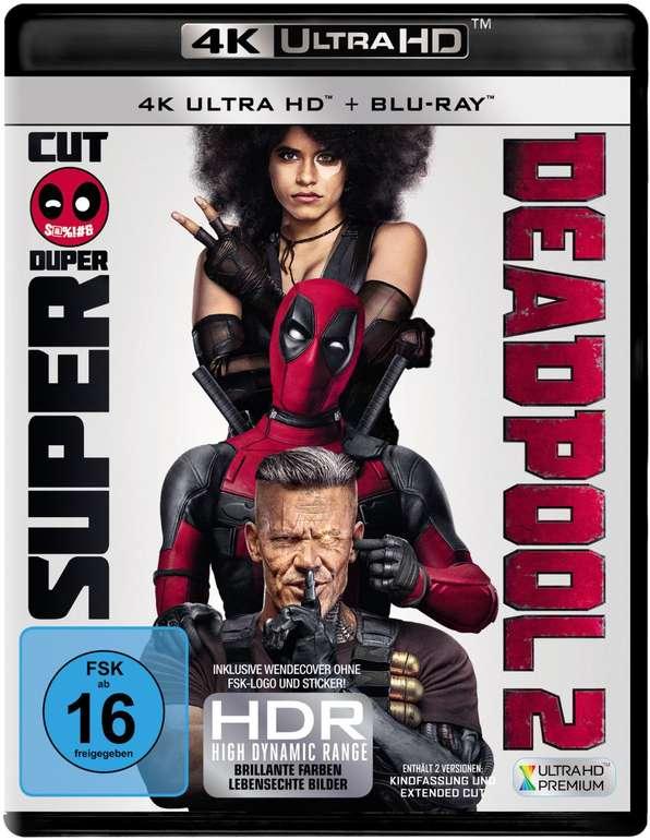 Deadpool 2 (4K Ultra HD Blu-ray + Blu-ray) für 14,99€ inkl. Versand (statt 18€)