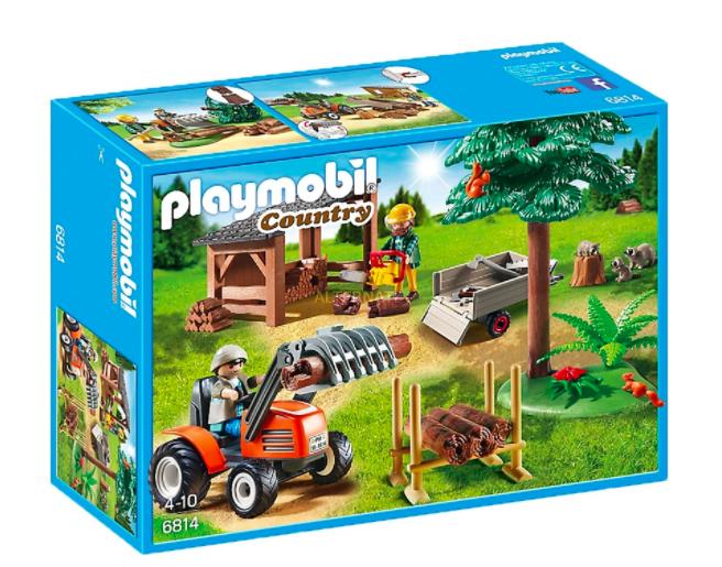 Playmobil 6814 - Holzfäller mit Traktor, Konstruktionsspielzeug für 16,94€