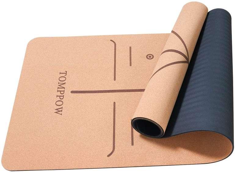 Tomppow Yogamatte aus Kork & Naturkautschuk (183 x 62 x 0,6 cm) für 26,90€ (statt 37€)