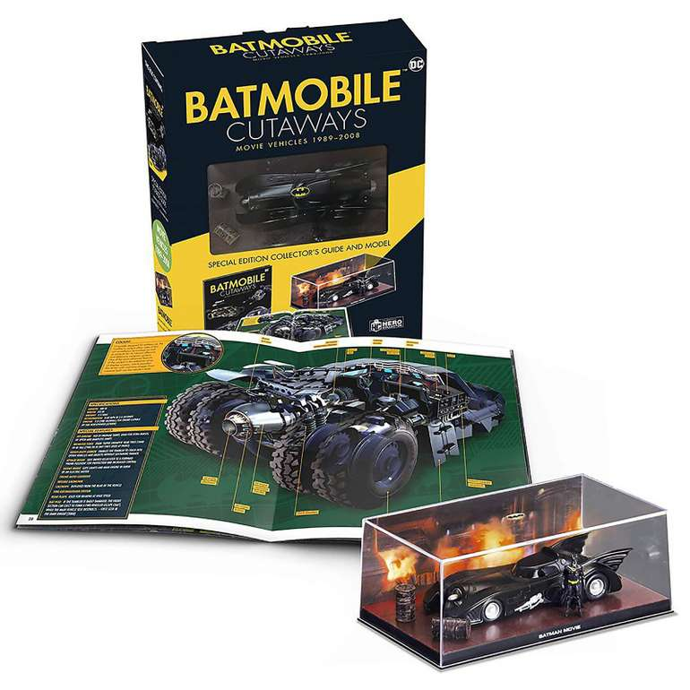 Zavvi: Verschiedene Bücher mit 50% Rabatt z.B Eaglemoss DC Comics Batmobile Cutaways für 18,48€inkl. Versand (statt 36€)