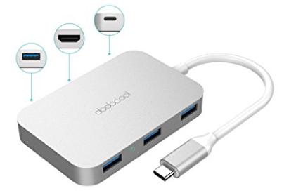 Dodocool Multifunktions-USB-C Hub mit Typ-C Stromversorgung für 11,99€