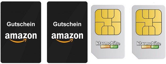 4f197bee66a915 2x Klarmobil SIM + jeweils 2€ Guthaben + 30€ Gutschein für…