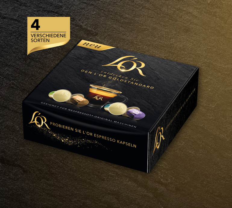 Gratis: L'Or Nespresso Probierset - 4 Kapseln kostenlos bestellen