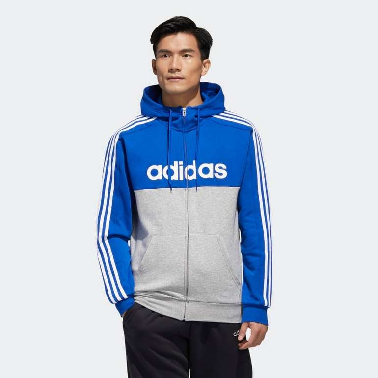Adidas Essentials Colorblock Hooded Trainingsjacke für 25,20€ inkl. Versand (statt 55€)