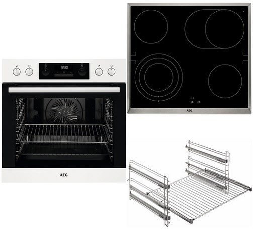 AEG HB3013WS31 Glaskeramik-Kochfeld & Einbauherd im Set für 777€ + 70€Gutschein