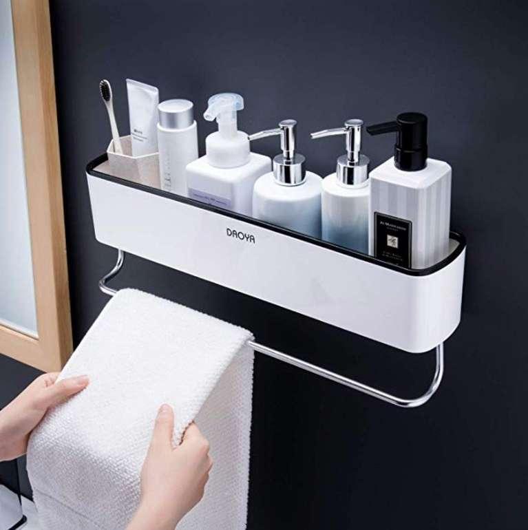 Selbstklebender Ruicer Duschkorb mit Handtuchhalter für 15,94€ (statt 29€) - Prime!