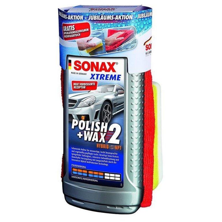 Sonax Xtreme Polish & Wax 2 Set mit Schwamm & Mikrofasertuch nur 11,99€