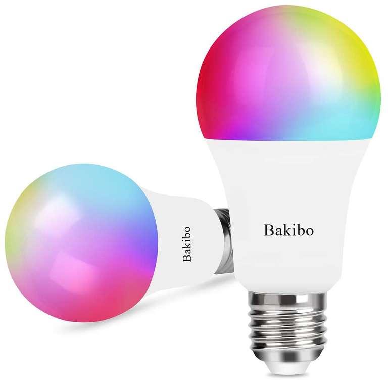 2er Pack bakibo smarte E27 WLAN LED Lampen für 15,83€ inkl. VSK - Prime!
