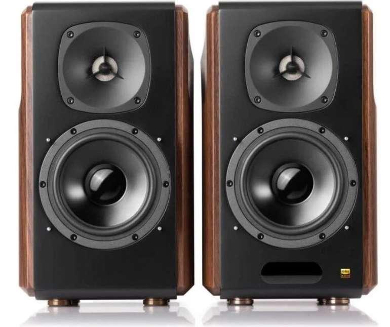 Edifier S2000 MKIII 2.0 Regallautsprecher Paar (130 Watt, aktiv, aptX Bluetooth, inkl. Fernbedienung) für 308,90€