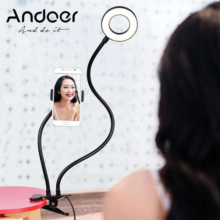 Andoer flexible Ringleuchte mit Handyhalterung für 9,69€ inkl. Versand (statt 15€)
