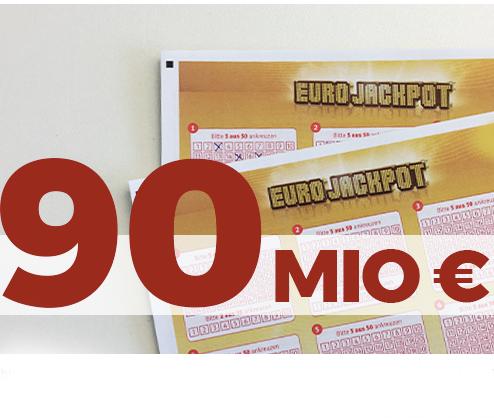 5 Felder EuroJackpot nur 0,99€ (Tipp24 Neukunden) - 90 Millionen € im Pott!