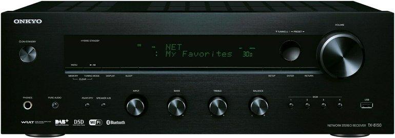 Onkyo TX-8150 Receiver (Airplay, WLAN, Bluetooth,DAB+) für 255€ (B-Ware)