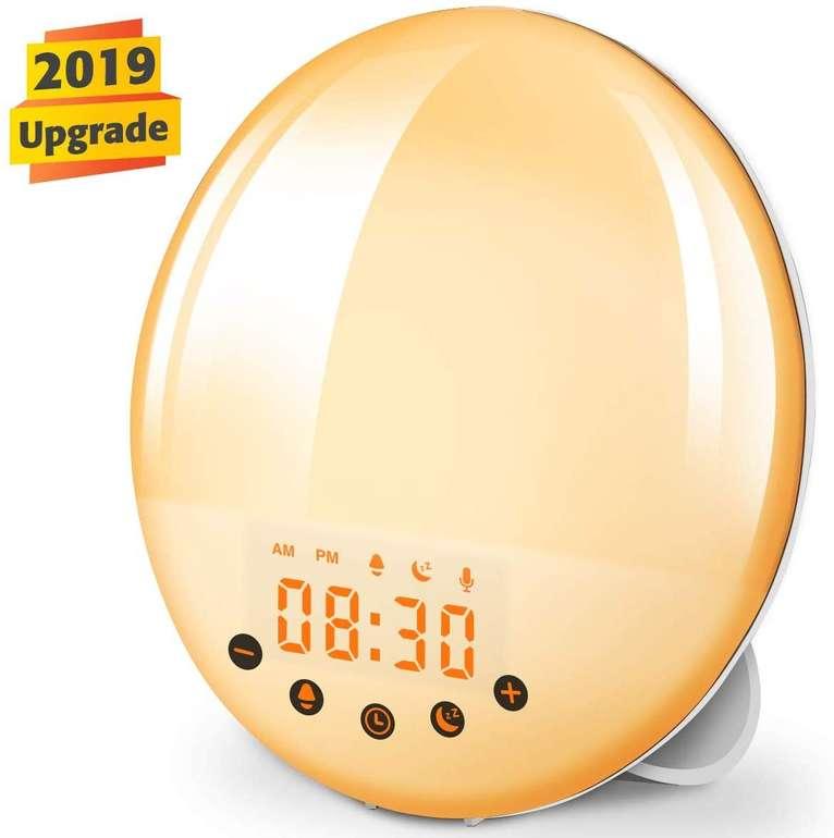 KingSo Lichtwecker / Wake Up Light mit FM-Radio, 9 Wecktönen & 30 Helligkeitseinstellungen für 26,99€