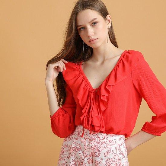 Stefanel Sale mit bis zu -71% Rabatt - z.B. rote Bluse für 34,99€ (statt 57€)