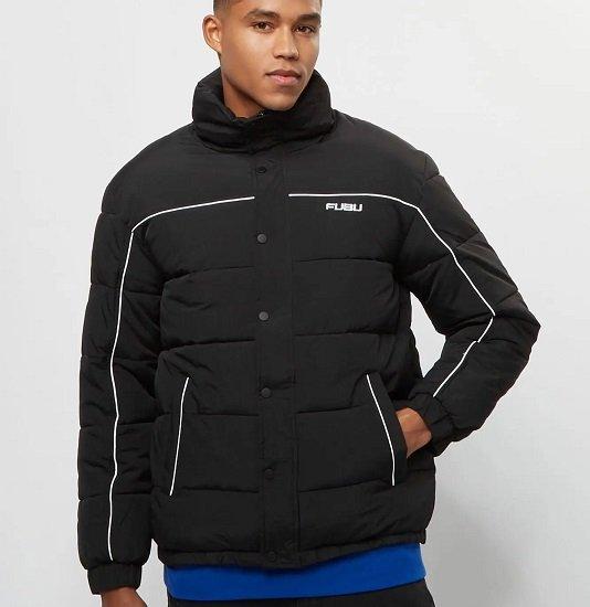 Fubu FB Corporate Puffer Jacket black/white für 31,99€ (statt 106€)