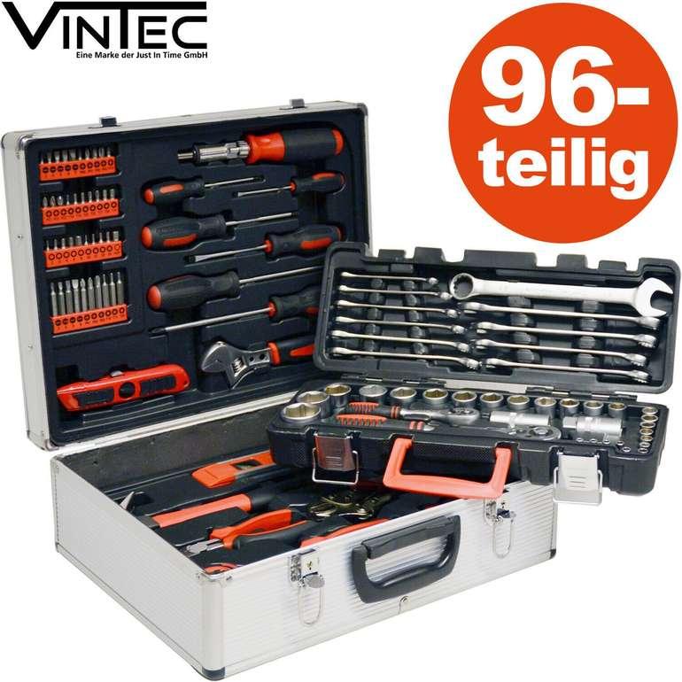 96-teiliger Vintec Profi Metall Werkzeugkasten für 89,99€ (statt 109€)