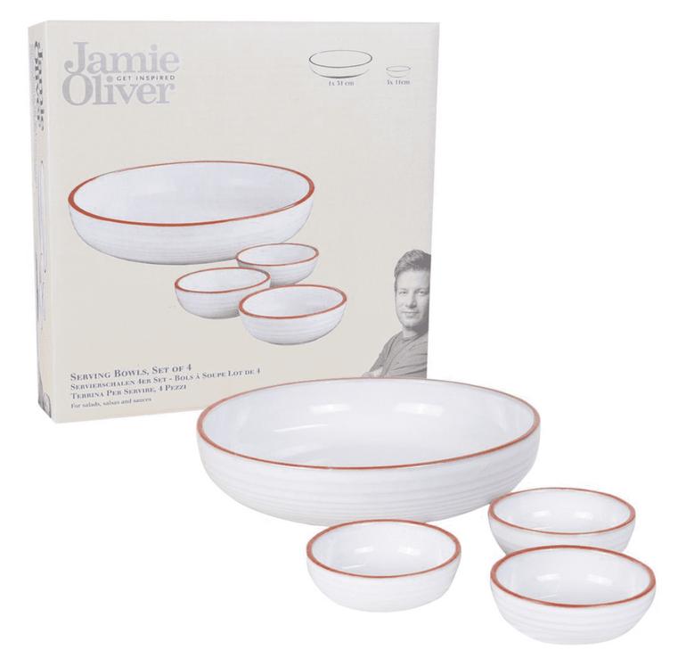 Top12: Jamie Oliver Sale mit sehr gute Preisen + 12% Extra , z.B. 4er Servierschalen Set für 8,03€