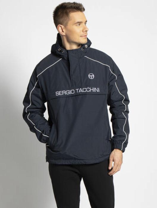 Sergio Tacchini Overshirt Jacke mit Logo in navy für 29,92€ inkl. Versand (statt 45€)