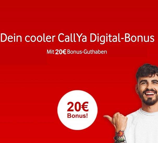 Vodafone CallYa Digital Allnet mit 10GB LTE für 20€ mtl. + 20€ Guthaben (1 Monat kostenlos! - mtl. kündbar)