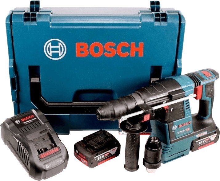 Bosch Akku-Schlagbohrhammer GBH 18V-26 F mit 2x 6.0Ah Akku + Absaugung + L-Boxx für 432,56€