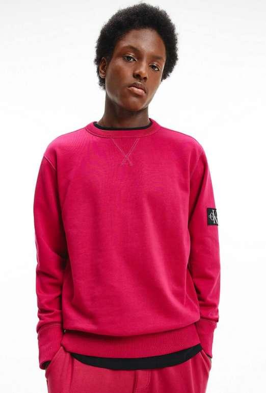 Calvin Klein Jeans Herren Sweatshirt in rot für 37,03€ inkl. Versand (statt 52€)