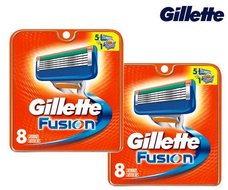 16er Pack Gillette Fusion Rasierklingen für 35,90€ inkl. Versand (statt 46€)