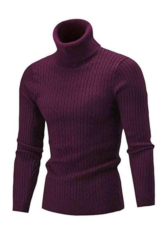 GreatestPAK Basic Rollkragen Pullover Herren für 14,10€ inkl. Versand (statt 25€)