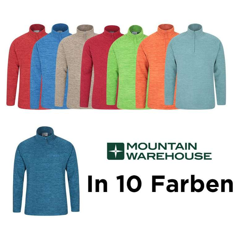 Mountain Warehouse Snowdon Herren Mikrofleece Pullover für je 14,99€ inkl. Versand (statt 20€)
