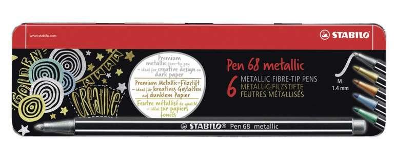 Stabilo Pen 68 - Metallic Filzstifte (6 Stück) im Metalletui für 5€ inkl. Versand (statt 11€)