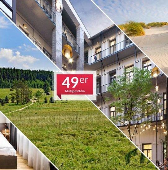 Animod 1-Nacht Hotelgutschein (über 50 Hotels) inkl. Frühstück für 2 Personen für 49,98€