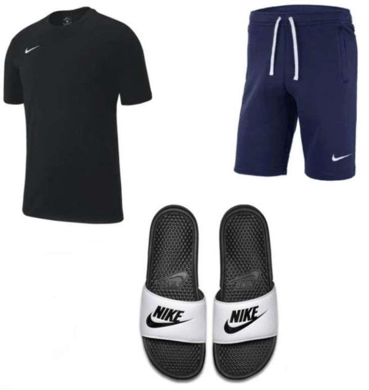 3-tlg. Nike TeamClub 19 Freizeit-Outfit (T-Shirt, Shorts, Badelatschen) für 47,95€ inkl. Versand (statt 59€)