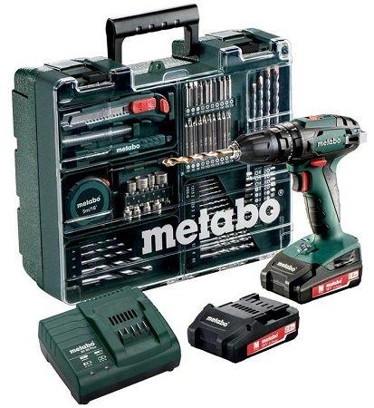 Metabo SB 18 Set 18V Akkuschrauber inkl. 2x2.0Ah Akkus + Ladegerät + Koffer 127,80€