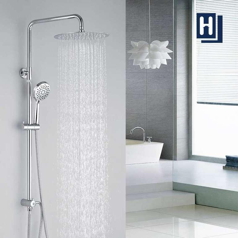Homelody Duschsystem mit Überkopfbrause + Handbrause mit 3 Modi für 72,99€ (statt 117€)