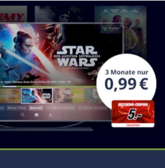 Endet heute: 3 Monate Freenet Video für 0,99€ testen (monatlich kündbar!) + 5€ Media Markt Gutschein