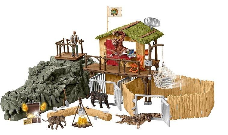 Schleich Dschungel Forschungsstation (42350) Croco für 65,59€ (statt 74€)