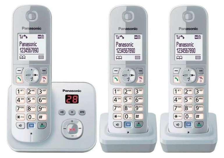 Panasonic TG6823G Trio - Schnurloses DECT-Telefon (3 Mobilteile, mit Anrufbeantworter) für 63,44€ (statt 73€)