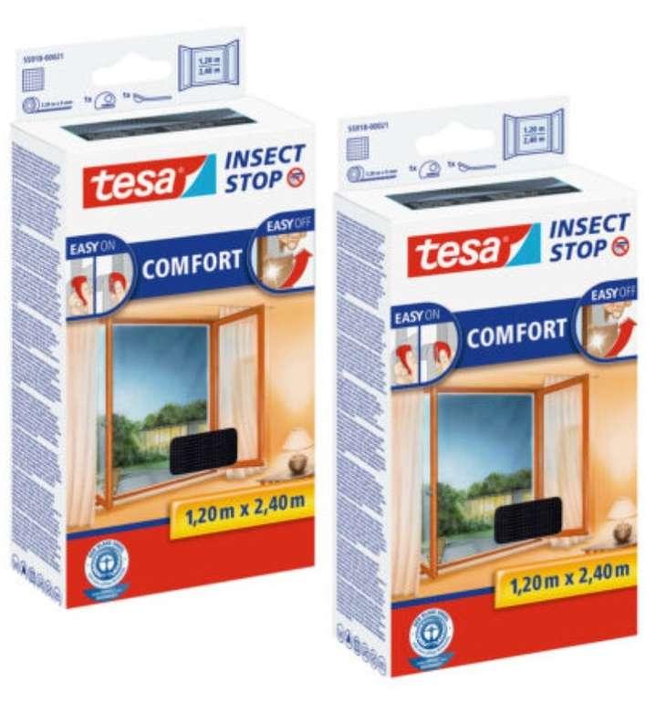 2x Tesa Fliegengitter Insektenschutz (1,2 x 2,4m, schwarz, Fenster Klettband) für 24,95€ (statt 28€)