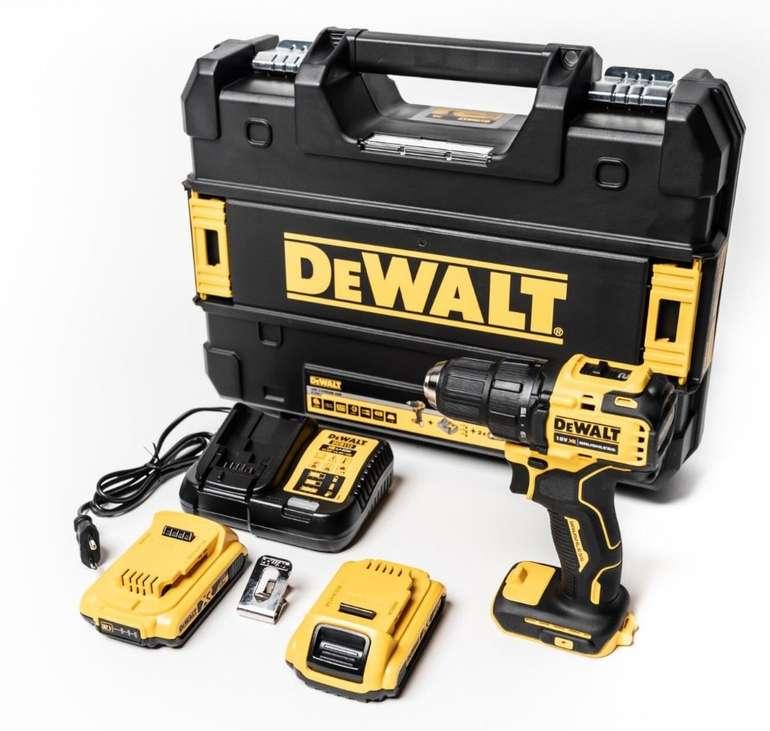 DeWalt DCD708D2T 18V-Akku-Bohrschrauber (2x 2Ah-Akku, Schnellladegerät, T-STAK Koffer) für 131,18€
